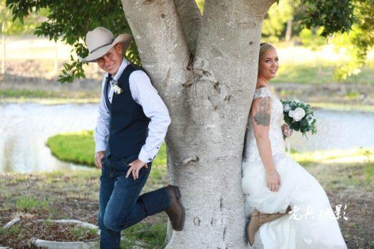 Bride & Groom lakeside ceremony